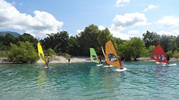 Surfen auf dem Lac de Ste. Croix