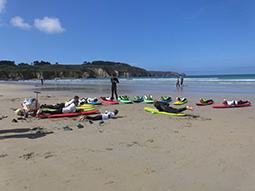 Surfkurs am Strand