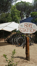 Bike-Station im Toskanacamp