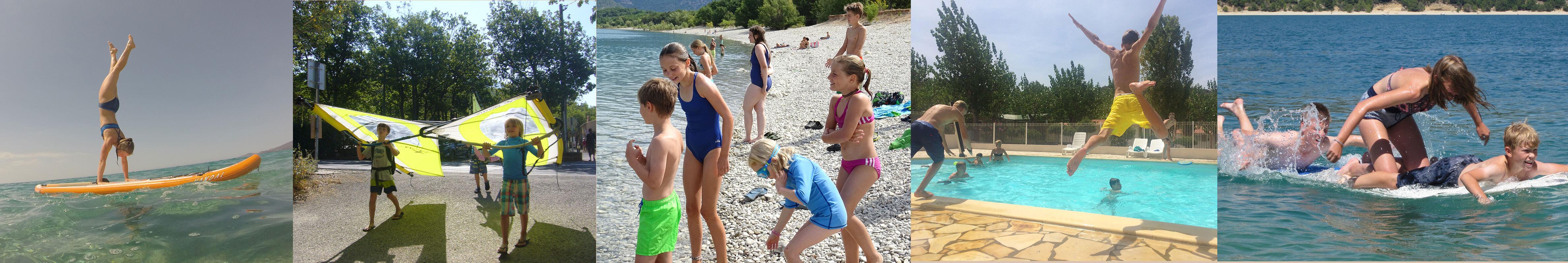 Szenen von verschiedenen sportlichen Aktivitäten