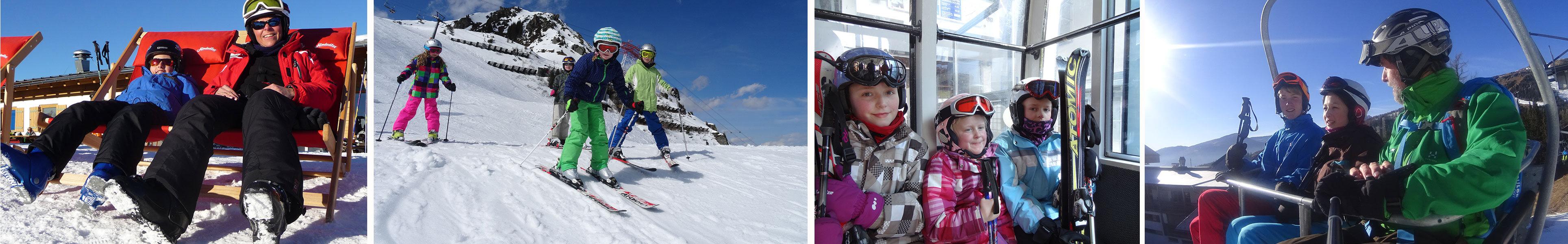 Szenen aus dem Skiurlaub