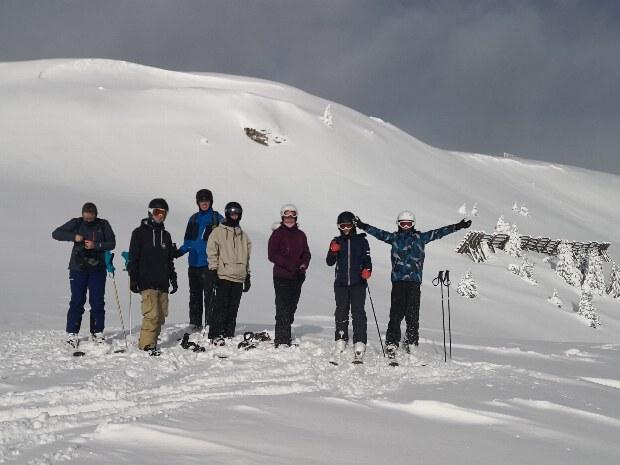 Skigruppe am Gamskogellift