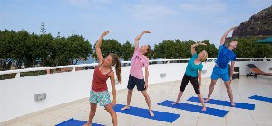 Fitnessübungen auf der Dachterrasse