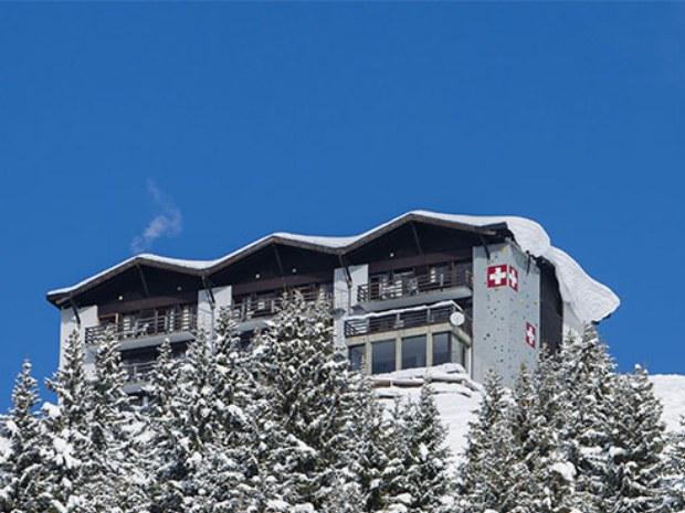 Ansicht des Sportclubs Chalet Onu im Skiurlaub in Champéry in der Schweiz