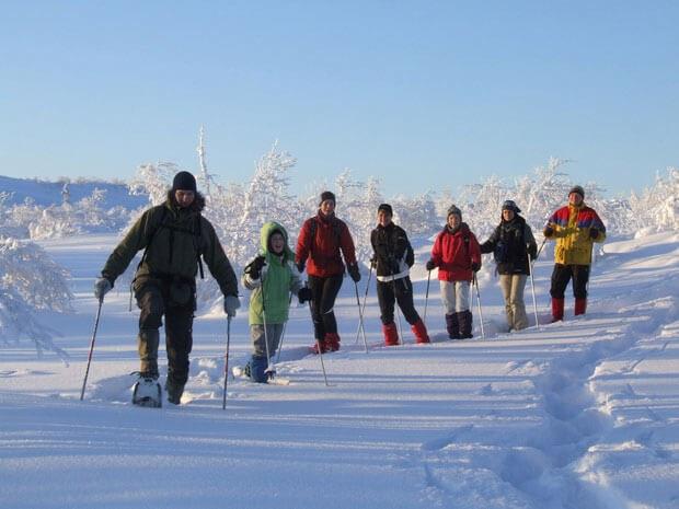 Schneeschuhwandern im Aktivcamp