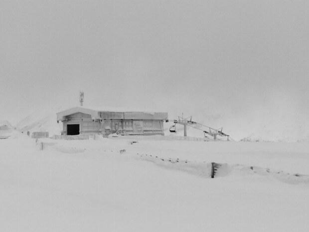 Schneesturm am Aineck