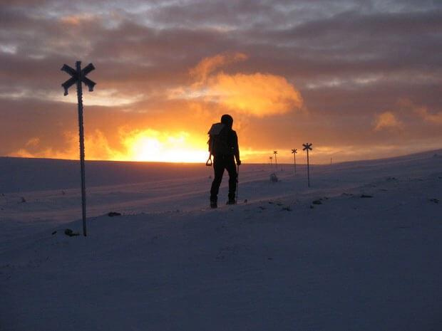 Unterwegs beim Sonnenaufgang