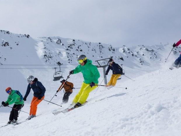 Skiguiding auf der Piste von Davos