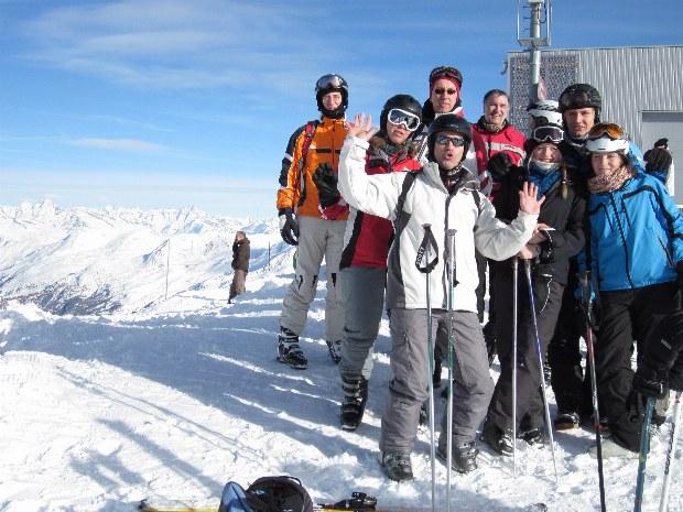 Pause des Erwachsenenskikurses im Skigebiet Bad Hofgastein