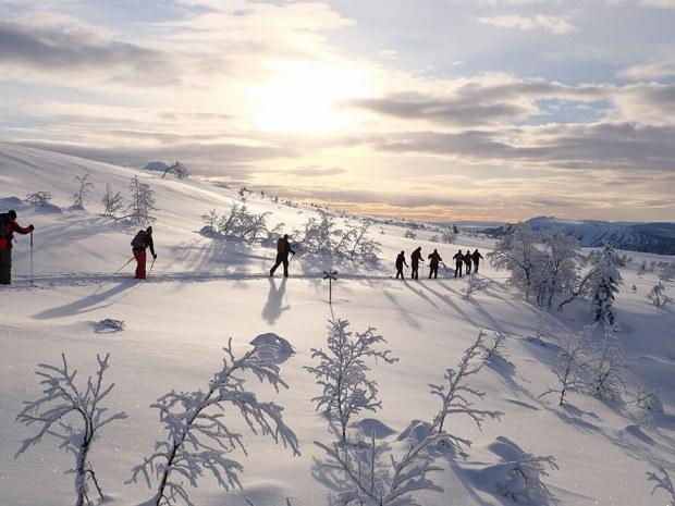 Skilanglauf in Idre Schweden