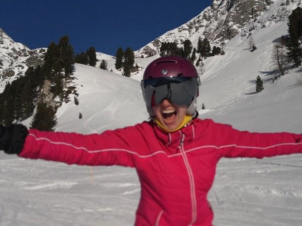 Begeisterung beim Skilaufen