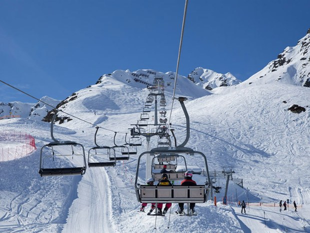 sattellift auf den Arlberger Berg