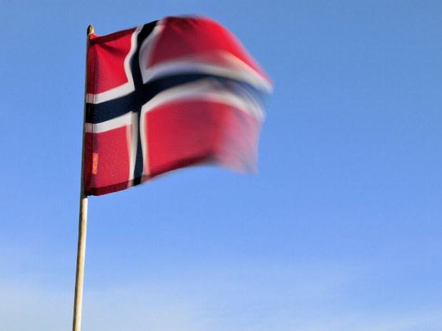 Fahne von Norwegen