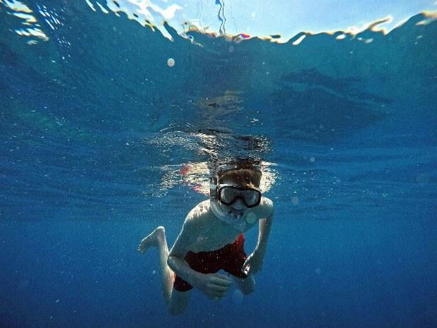 Tauchen im kristallklaren Meer