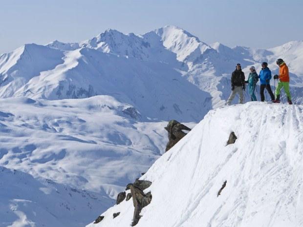Berglandschaft im Skigebiet