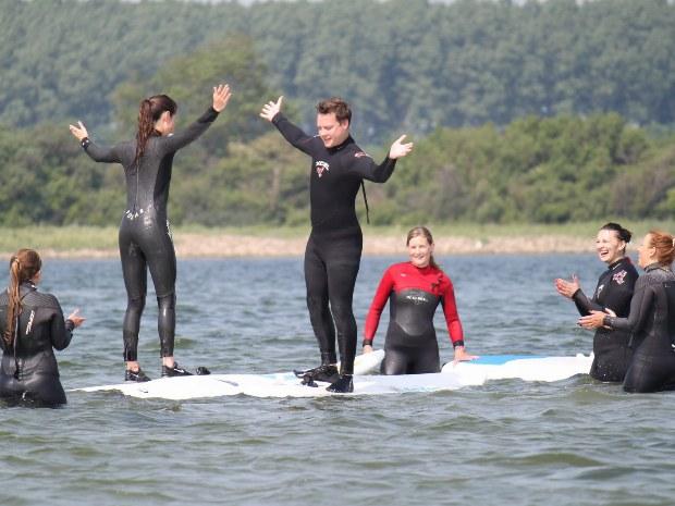 Ohne Gleichgewicht klappt auch das Surfen nicht