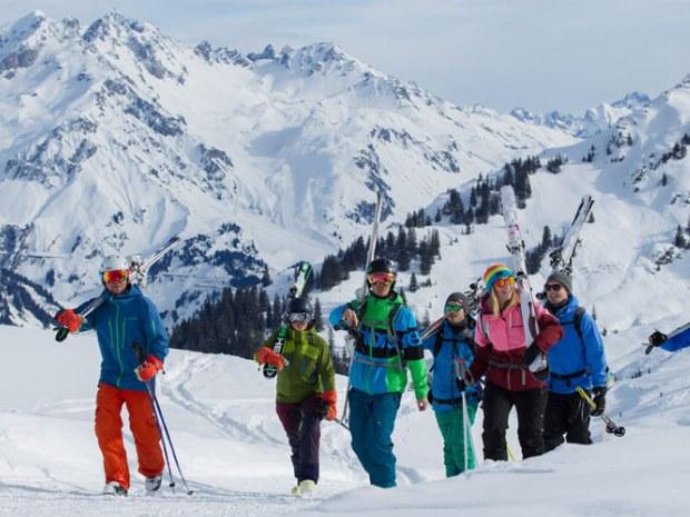 Skigebiet Arlberg in Österreich
