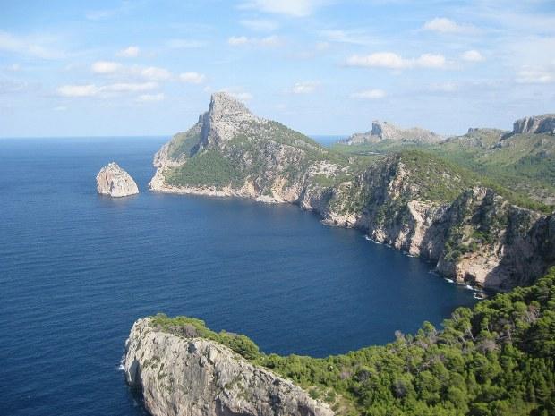 Panorama über Steilküste der Insel Mallorca