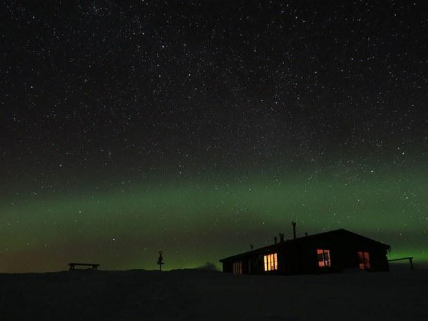 Idre Schweden bei Nacht