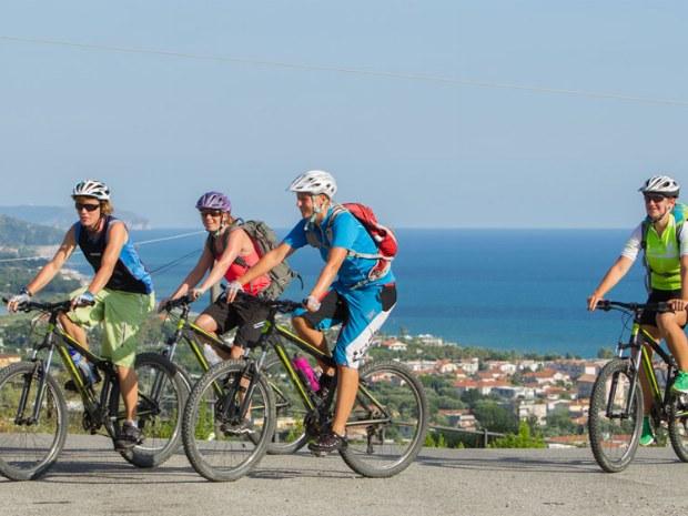 Mountainbiketour mit schöner Aussicht