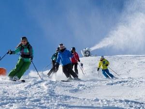 Skifahrer im Skigebiet Saalbach-Hinterglemm