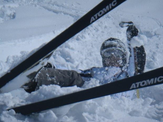 Skifahrer im Tiefschnee im Skigebiet Bad Hofgastein