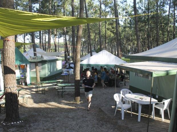 Der Gemeinschaftsbereich des Seaside Camps