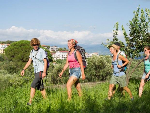 wandern in der Natur Italiens