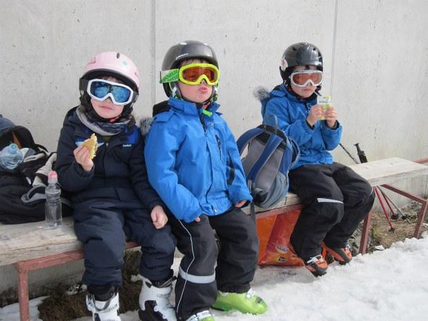 Kinderskikurs in Pause in Bad Hofgastein