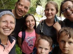 Familienausflug in die Natur