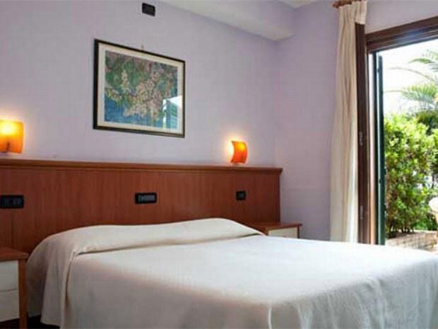Beispiel eines Doppelzimmers im Sporthotel Il Tempio in Süditalien