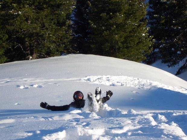Spaß im Schnee im Skigebiet Gerlos