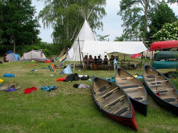 Das Camp und das Gemeinschaftszelt