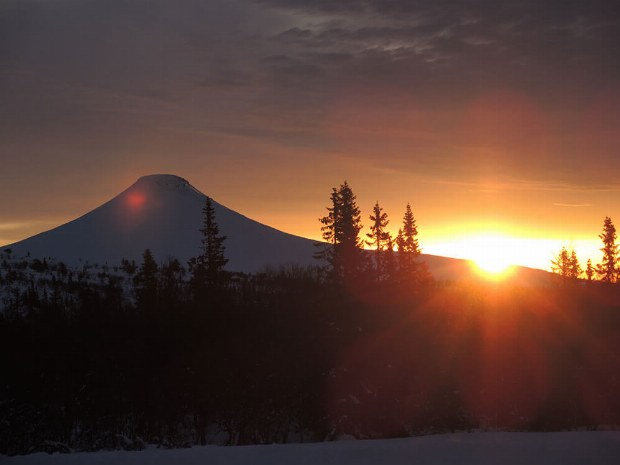 Sonnenuntergang in Idre Schweden