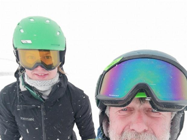 Snowboardgruß nach Hause