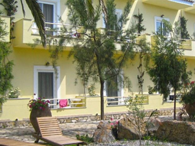 Ansicht einer Wohneinheit des Hotels San Georgio im Inselurlaub auf Korfu