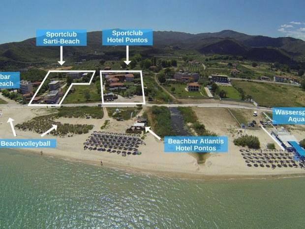 Gelände vom Sportclub Sarti Beach