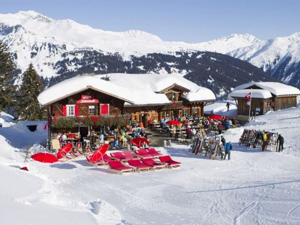 Hütte im Skigebiet Davos