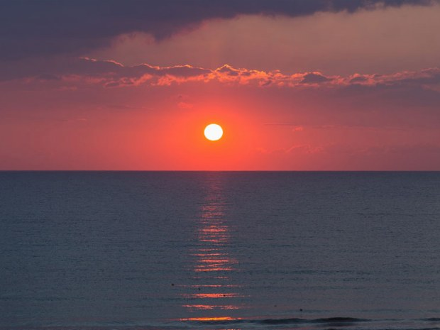 Sonnenuntergang am Meer vom Sportclub