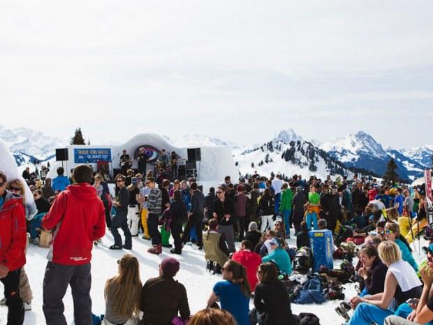 Das Ride-on-Music-Festival im Skigebiet