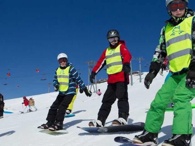 Snowboardkurs  mit Kindern