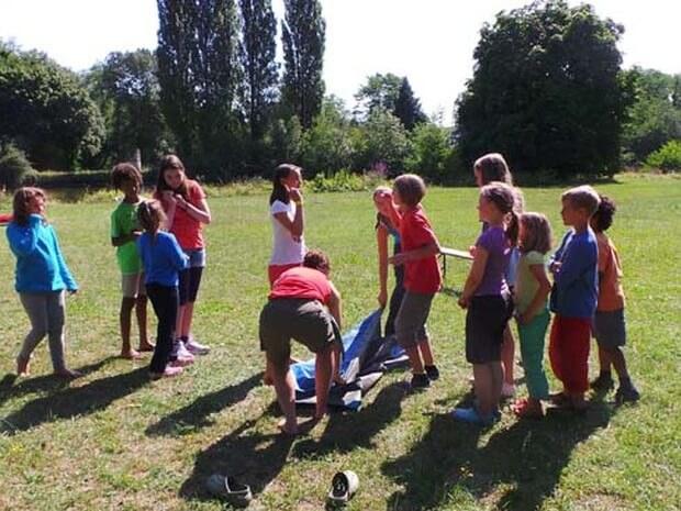 Kinderbetreuung an der Loire im Familiencamp