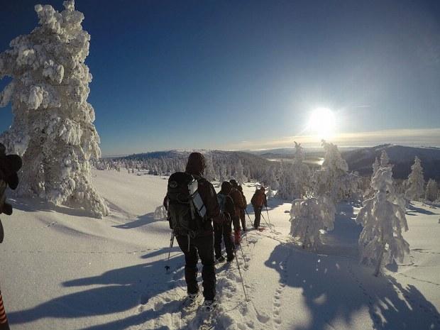 Schneeschuhwanderung im Aktivcamp in Schweden