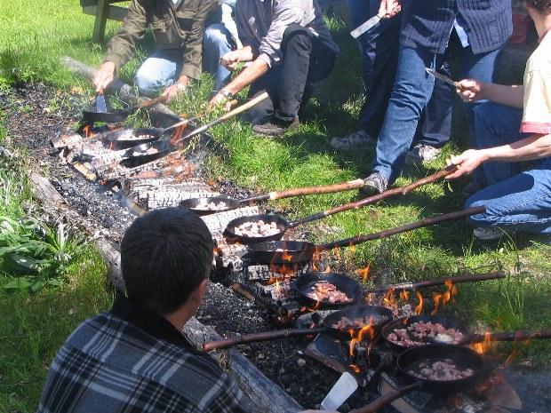 Traditionelles Kochen auf schwedische Art