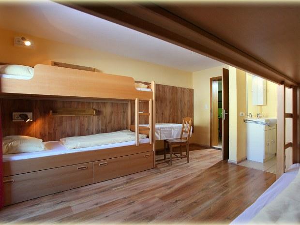 Beispiel für Mehrbettzimmer im Gasthof im Skiurlaub in Kitzbühel