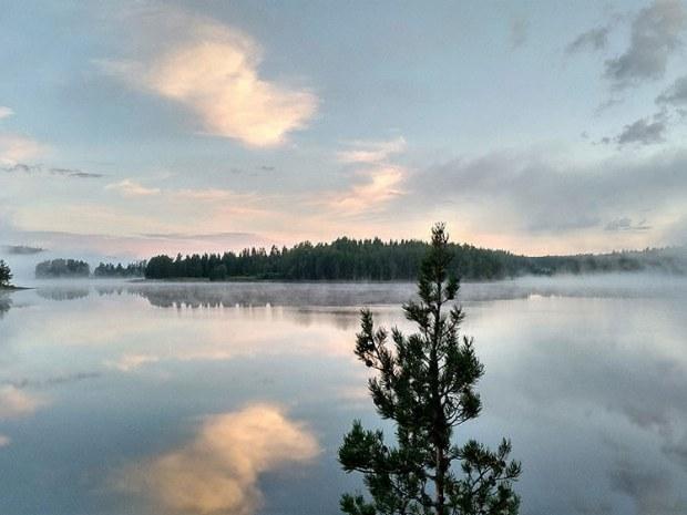 Landschaft in Gammelbyn in Schweden