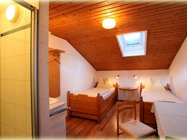 Beispiel für Doppelzimmer in Gasthof im Skiurlaub