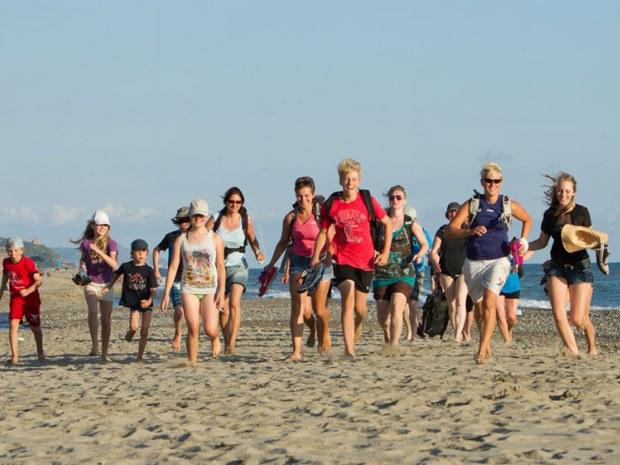 Spaß am Strand von Italien