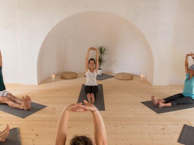 Yogastunde im Sporthotel