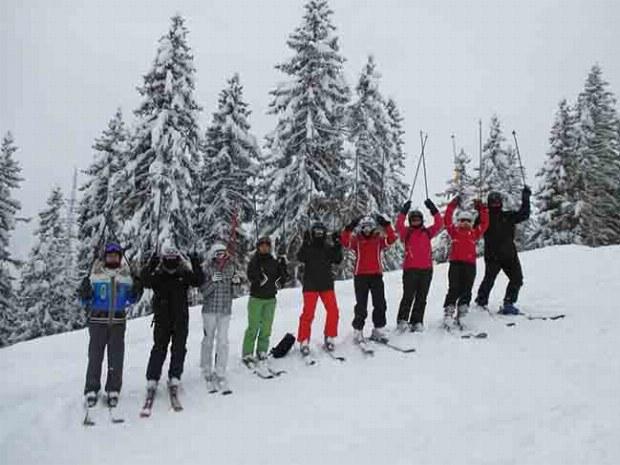 Spaß im Erwachsenenskikurs im Skigebiet Gerlos